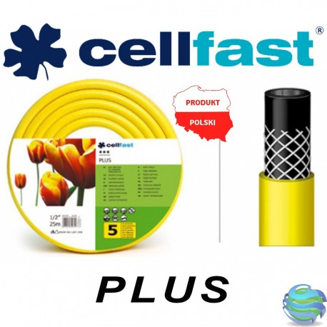 Шланг поливальний Cellfast серія PLUS (жовтий) 5/8-50м