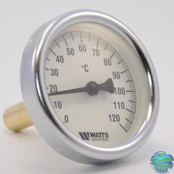 Термометр Watts 0-120°C F + R801 OR (TAS) з гільзою