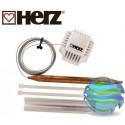 Термостатична головка (t 20–50°С) HERZ 1742006 (тепла підлога) з накладним датчиком для підлогового опалення