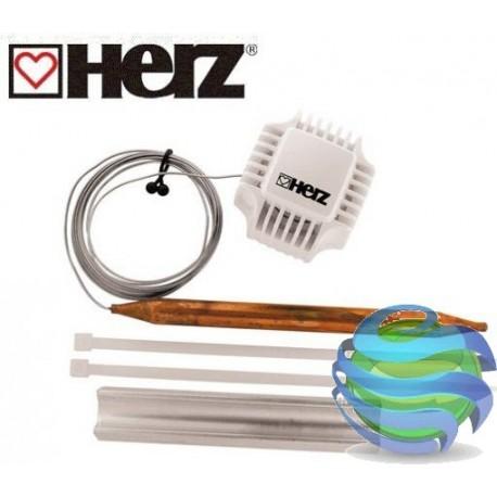 Термостатична головка з накладним датчиком для регулювання температури в бойлері або контурі опалення (t 40-70°C) HERZ 1742100