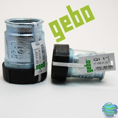 """Різьбове з'єднання GEBO Quic 1/2""""x19.7-21.8Ø труба метал,PE пластик"""