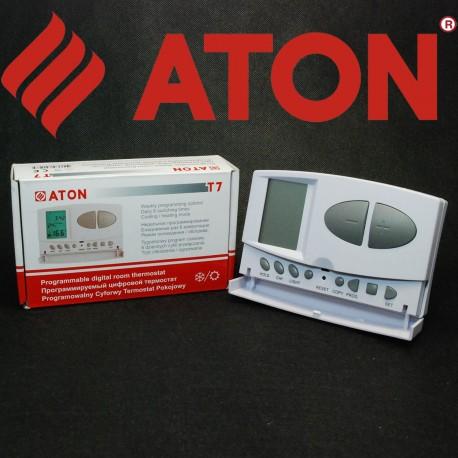 Програматор кімнатний ATON T7 тижневий (термостат управління котлом) дротовий