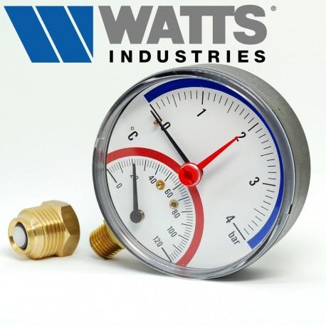 Термоманометр радіальний WATTS F+R828 (TMRP)
